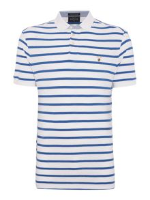Howick Rochelle Stripe Short Sleeve Pique Polo