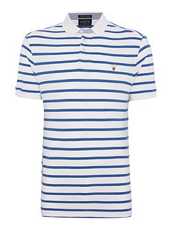 Rochelle Stripe Short Sleeve Pique Polo
