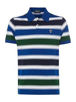 St Martin mercerised short sleeve polo