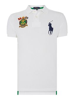 Custom fit big polo player & crest logo