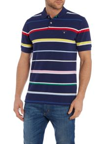 Gant Multi Stripe Short Sleeve Polo