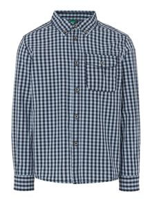 Benetton Boys Gingham shirt