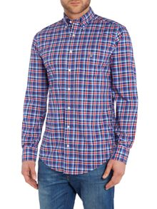 Gant Long Sleeve Windowpane Check Shirt
