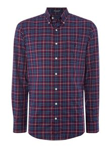 Dark Base Twill Check Long Sleeve Shirt