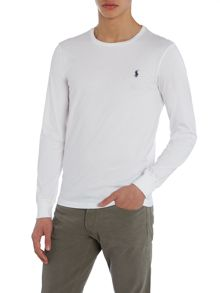 Custom Fit Crew Neck Long Sleeve T-Shirt
