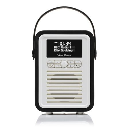 View Quest Retro Mini DAB+ Radio & Bluetooth Speaker, Black