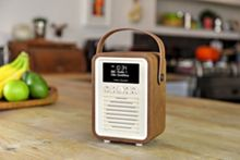 View Quest Retro Mini DAB+ Radio & Bluetooth Speaker, Brown
