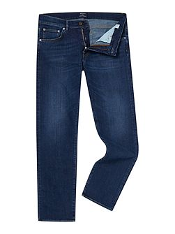 Regular-Fit Straight-Leg Denim Jeans