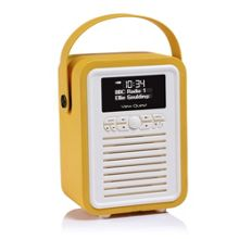 View Quest Retro Mini DAB+Radio & Bluetooth Speaker, Mustard
