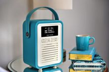 View Quest Retro Mini DAB+ Radio & Bluetooth Speaker, Teal
