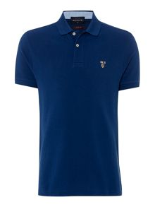 Howick Harvard short sleeve pique polo slim fit