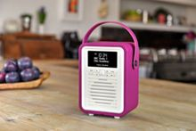 View Quest Retro Mini DAB+ Radio & Bluetooth Speaker, Purple