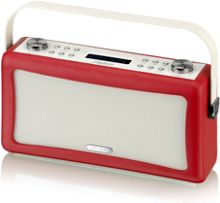 View Quest Hepburn DAB+ Radio & Bluetooth Speaker, Red