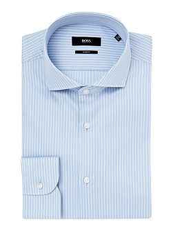 Men's Hugo Boss Slim Sateen Bold Stripe Shirt