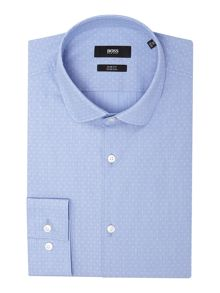 Hugo Boss Slim Geo Round Collar Shirt