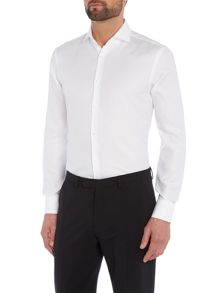 Hugo Boss Slim White Texture Shirt