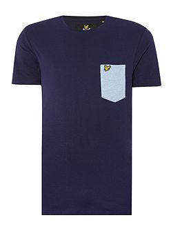 Pocket Detail Crew Neck T-shirt