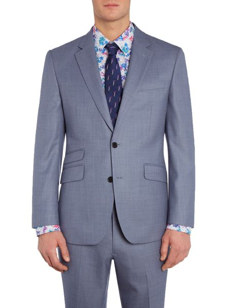 New & Lingwood Midhurst SB2 Notch Lapel Textured Suit Jacket