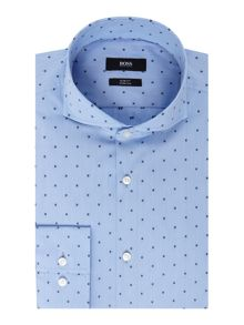 Hugo Boss Slim Embroidered Geo Shirt