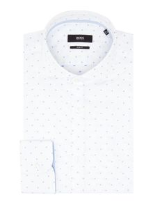 Hugo Boss Slim Embroidered Geo Oxford Shirt