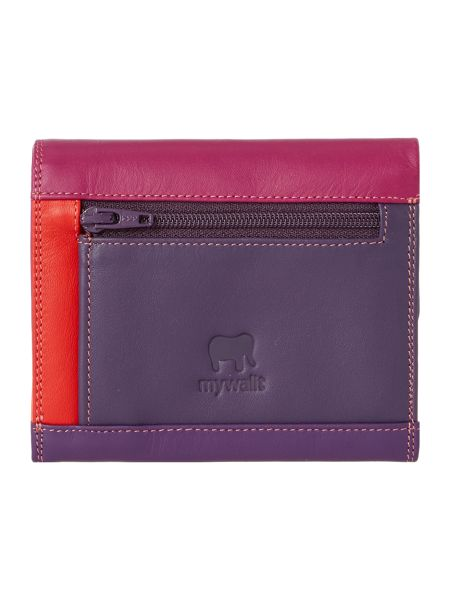 Mywalit Purple small flapover coin purse