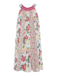 Little Dickins & Jones Girls Floral panel dress