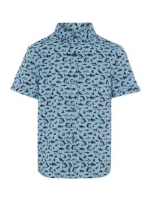 Howick Junior Boys Shark print short sleeved shirt