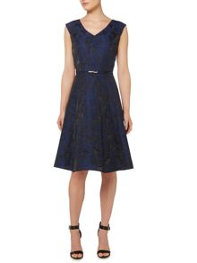 Dickins & Jones Floral Jacquard Dress