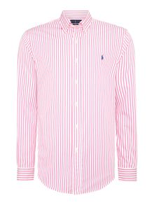 Long sleeve slim fit poplin stripe