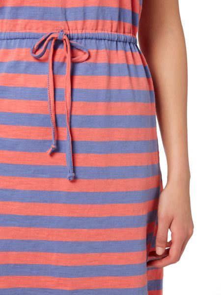 LILY & ME Striped tie waste dress