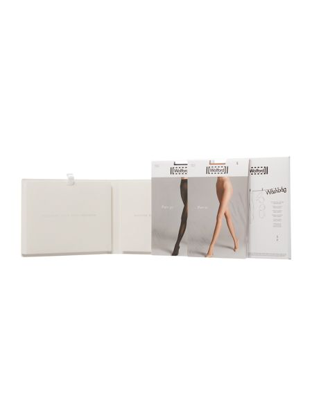 Wolford Pure touch gift box 50D black/10D gobi