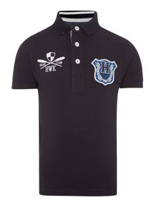 Howick Junior Boys Logo pique polo