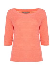 LILY & ME 3/4 sleeve textured top
