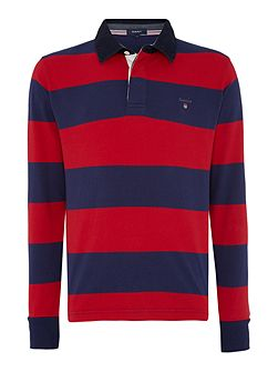 Striped Long-Sleeve Rugby Shirt