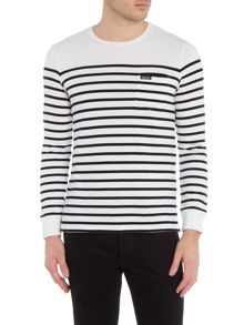 Terry breton stripe sweat