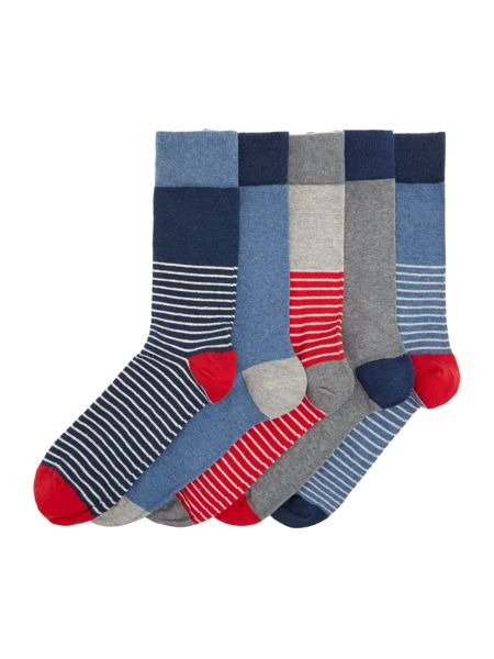Criminal 5 Pack Stripe Sock