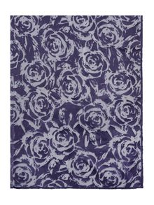 Dickins & Jones Flower Plain Devore Scarf