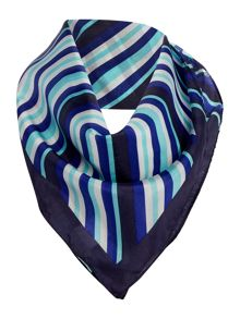 Stripe Silk Print Neckerchief