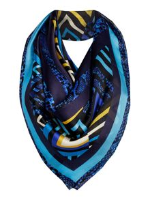 Deco Silk Satin Square Scarf