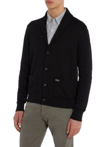 Double layer shawl collar sweat