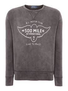Born to ride loft crew sweat