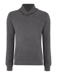 Shawl neck sweat