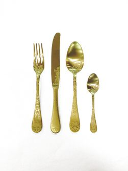 4 piece cutlery set Casablanca Ice Oro