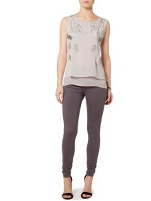 Gray & Willow Gaia Graduated Bead Layered Top