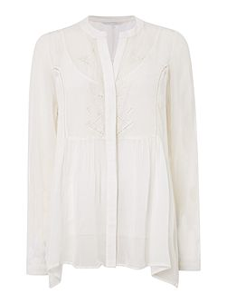 Rai embroidered peasant blouse