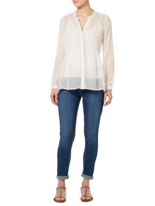 Gray & Willow Rai embroidered peasant blouse