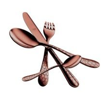 4 Piece Cutlery Set Coccodrillo Bronzo