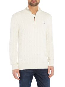 Polo Ralph Lauren Half zip silk cable