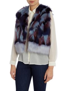 Helen Moore Impressionist faux fur shurg