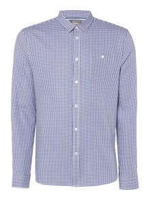 Linea James Long-Sleeve Gingham Shirt